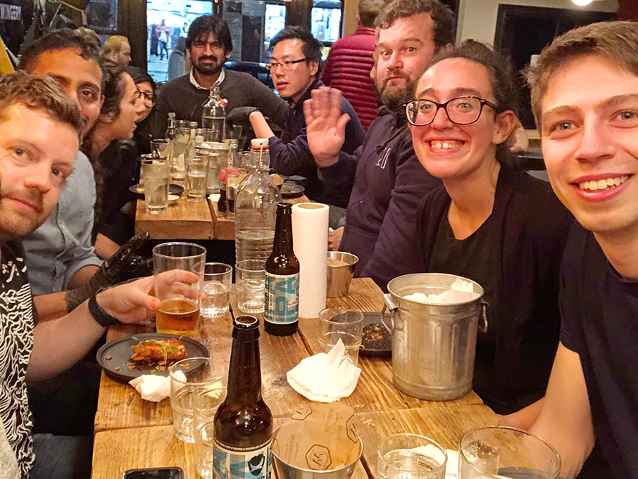 The RI team visit Wingmans London